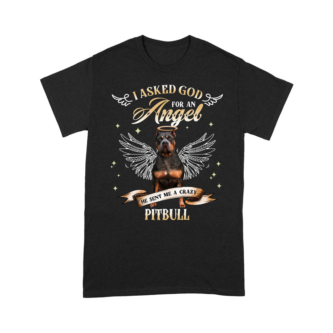 Pitbull I Asked God For An Angel He Sent Me A Dog T shirt