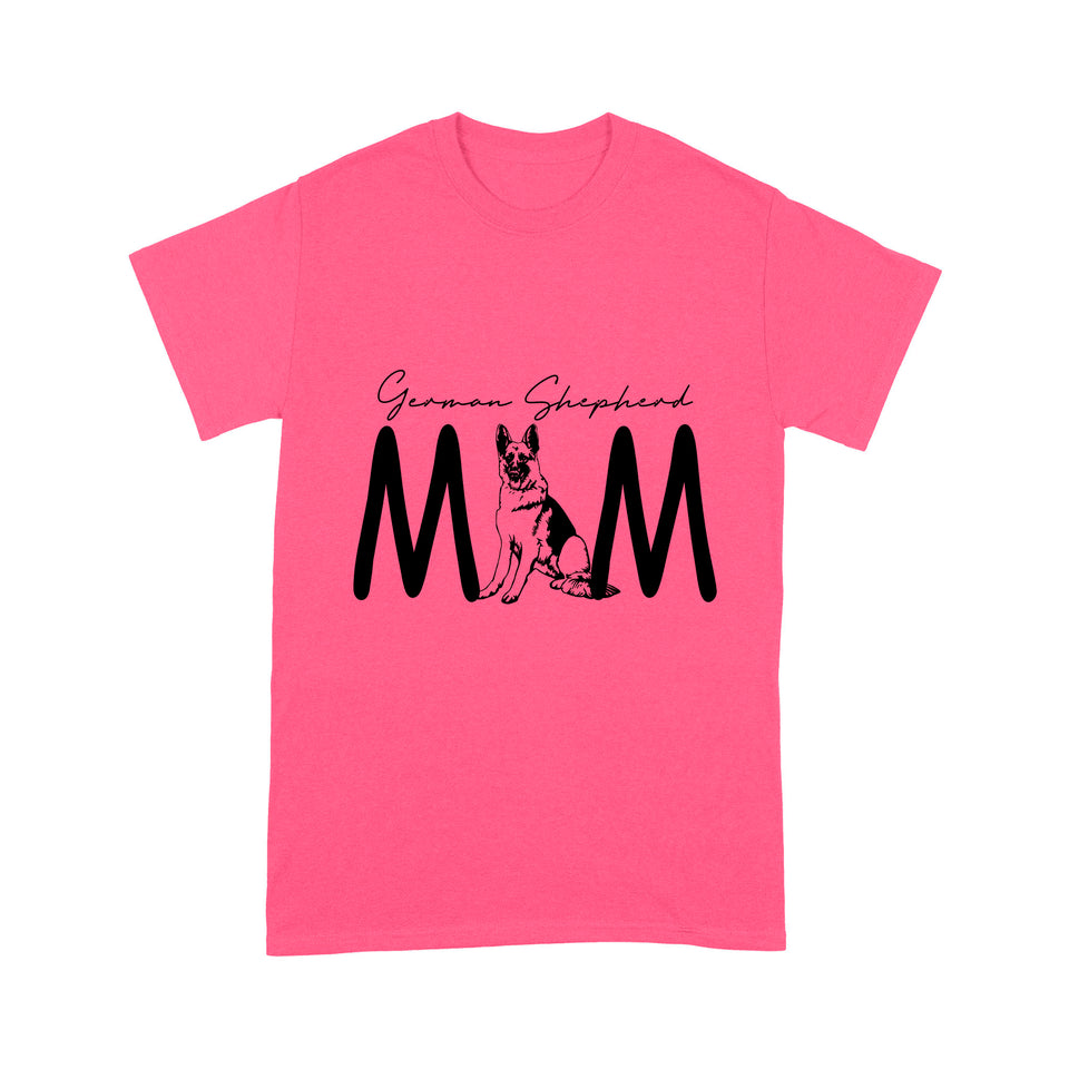 German Shepherd Mom Dog Print T shirt