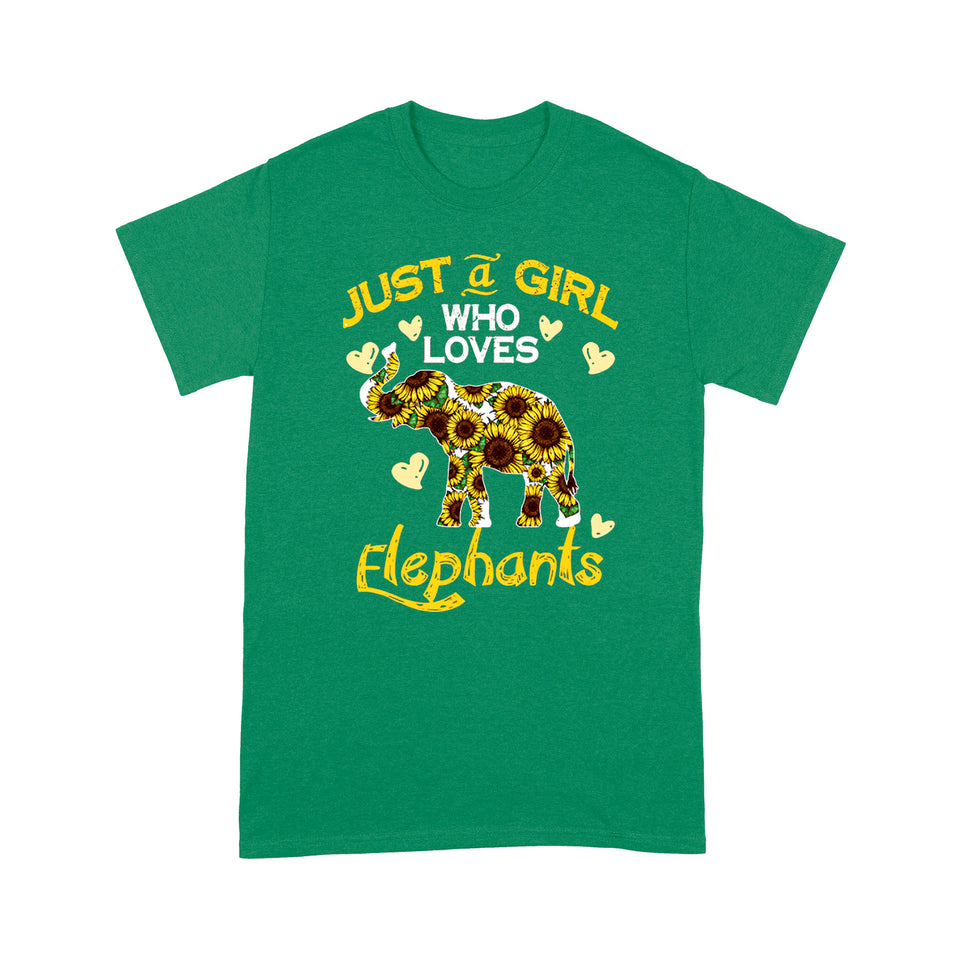 Just A Girl Who Loves Elephants T Shirt