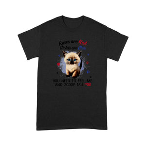 Roses Are Red Violets Are Blue Siamese Cat T Shirt Lovely