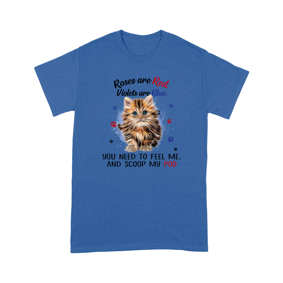 Roses Are Red Violets Are Blue Persian Cat T Shirt Lovely