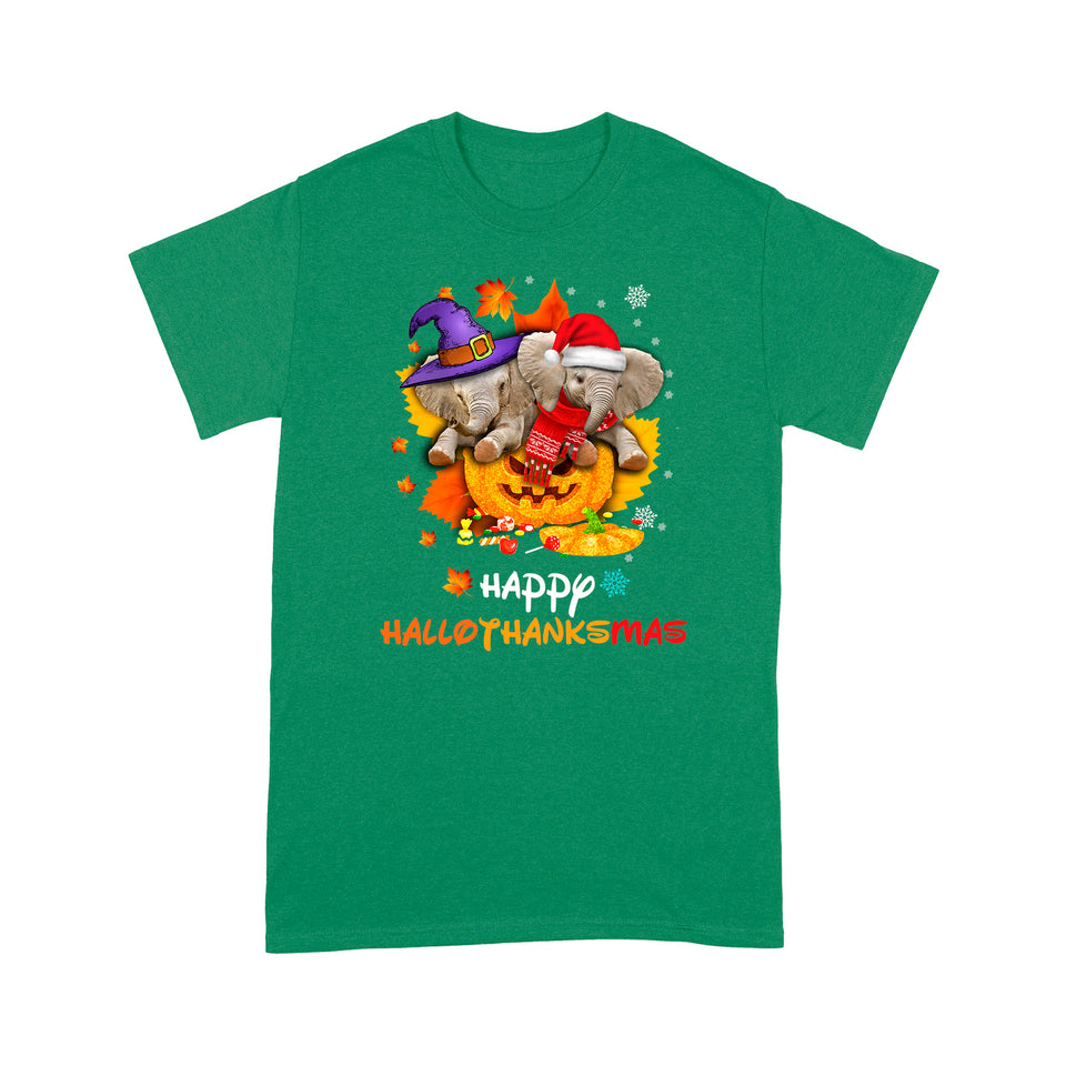 Happy Hallothankmas Elephant T Shirt