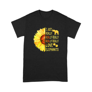 Really Love Elephants T Shirt