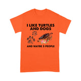 I Like Turlte And Dog T Shirt