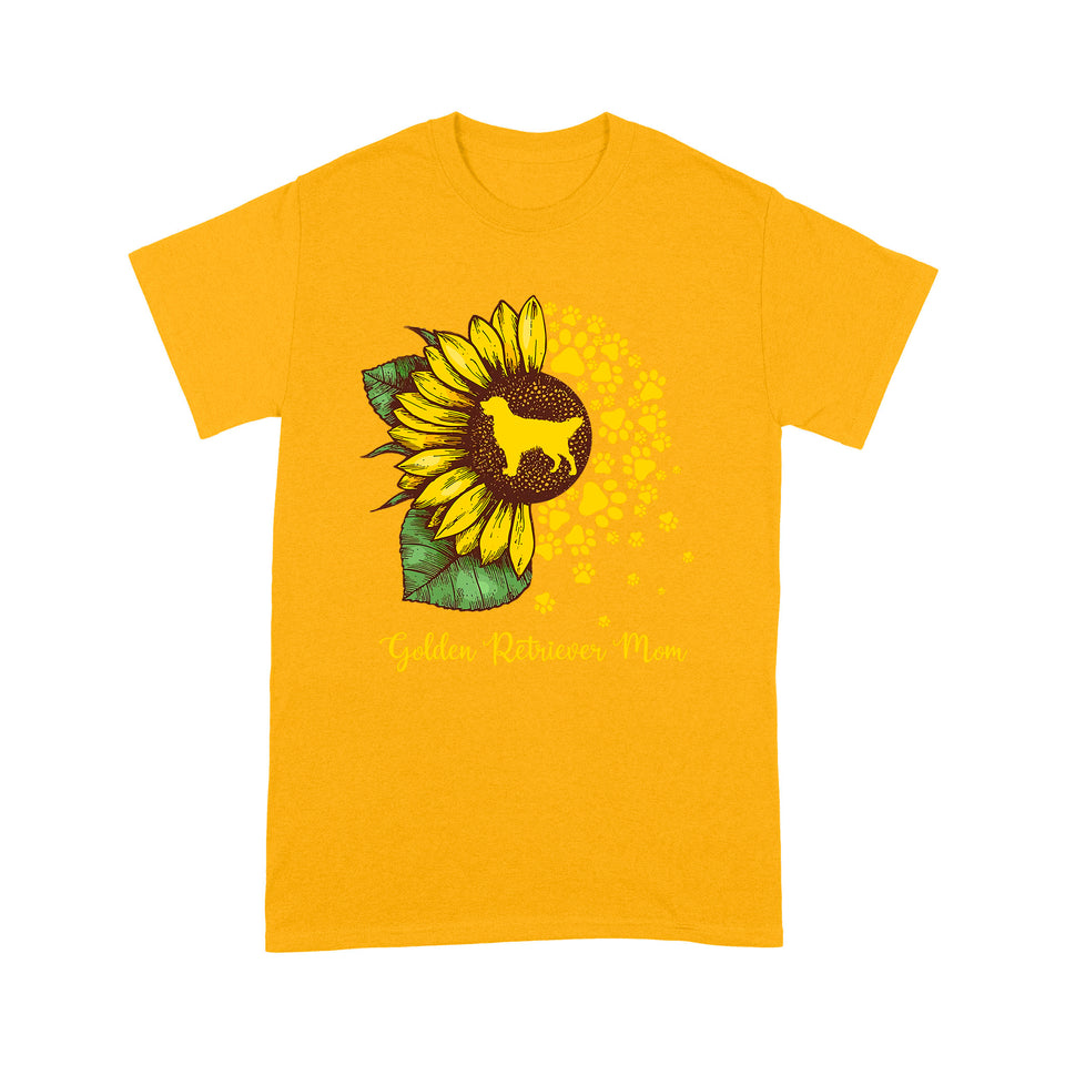 Golden Retriever Mom Dog Sunflower T shirt