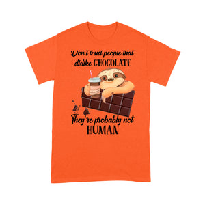 Sloth Chocolate Funny Design Tshirt