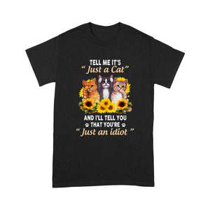 Cat And Sunflower T Shirt