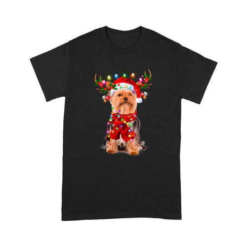 Christmas Dog Yorkshire Terrier T shirt