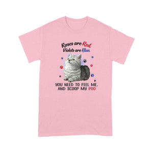 Roses Are Red Violets Are Blue Tabby Cat T Shirt Lovely