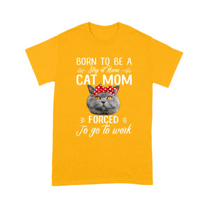British Shorthair Cat Mom T Shirt Funny
