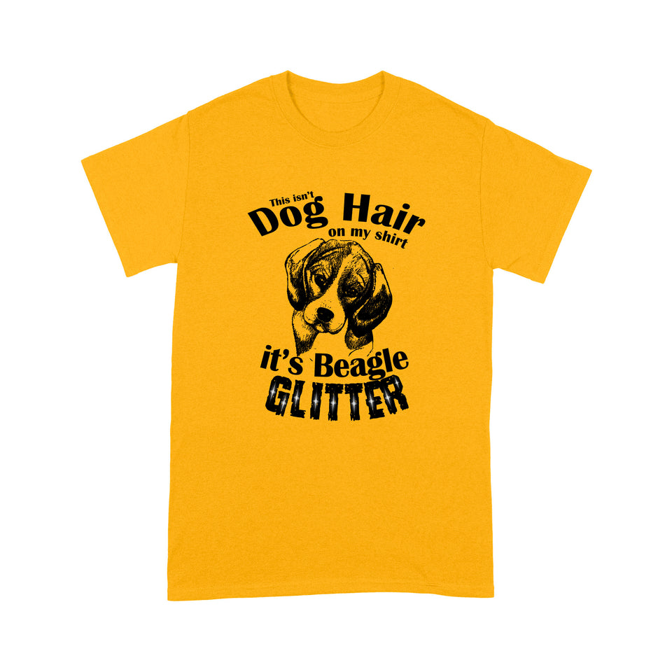 Beagle Glitter Dog Hair T shirt