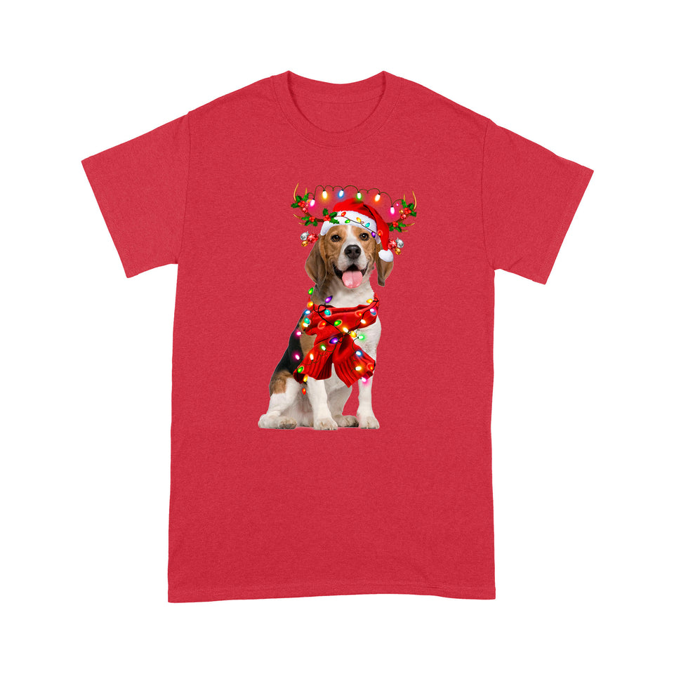 Christmas Dog Beagle T shirt