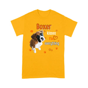 Boxer Dog Kisses Fix Everything T shirt