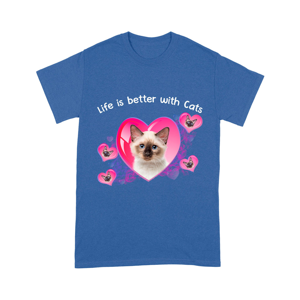 Life Is Better With Siamese Cat T Shirt Funny
