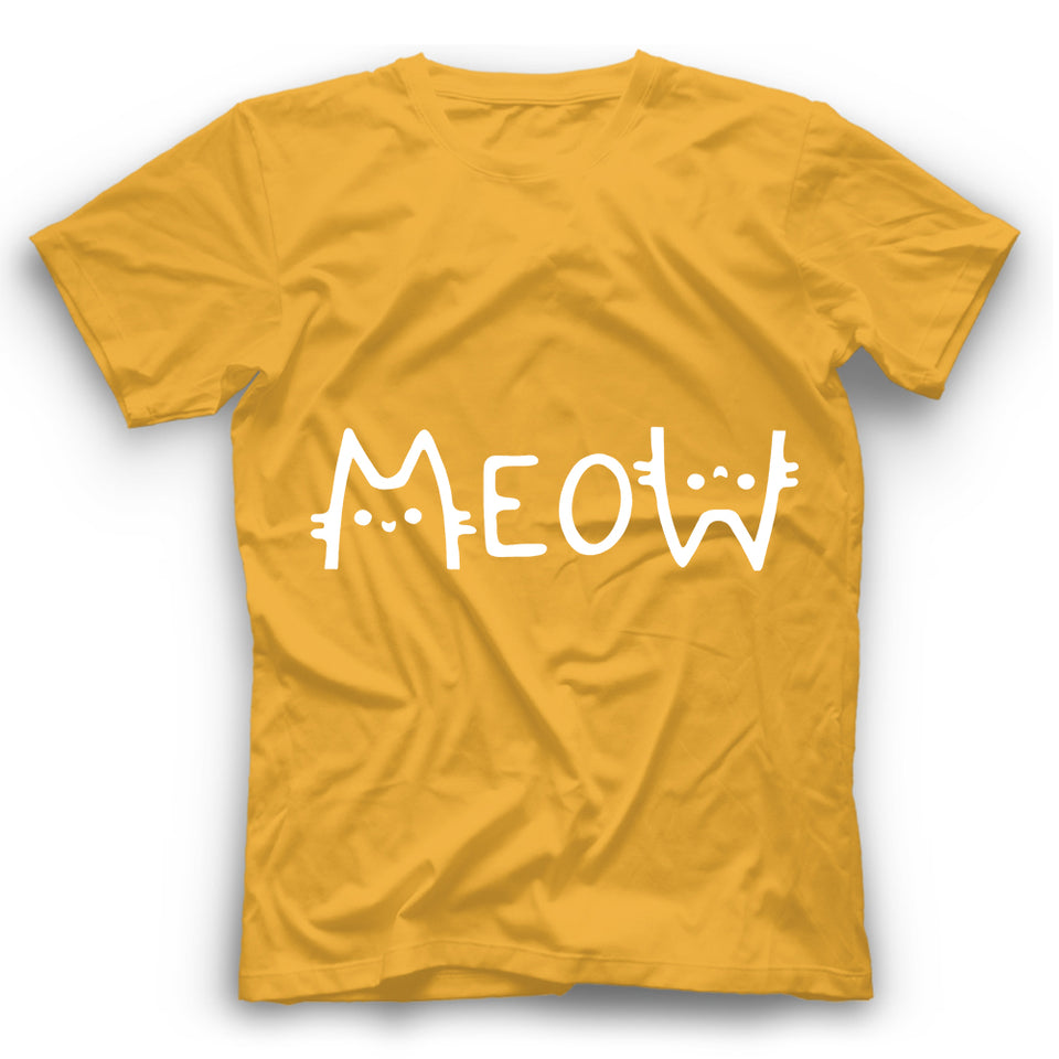 Meow T Shirt Funny