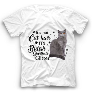 British Shorthair Cat Glitter T Shirt Funny