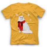 Winter British Longhair Cat T Shirt Funny
