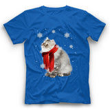 Winter Persian Cat T Shirt Funny