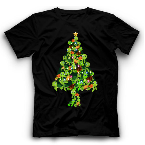 Green Turtle Tree T Shirt Funny
