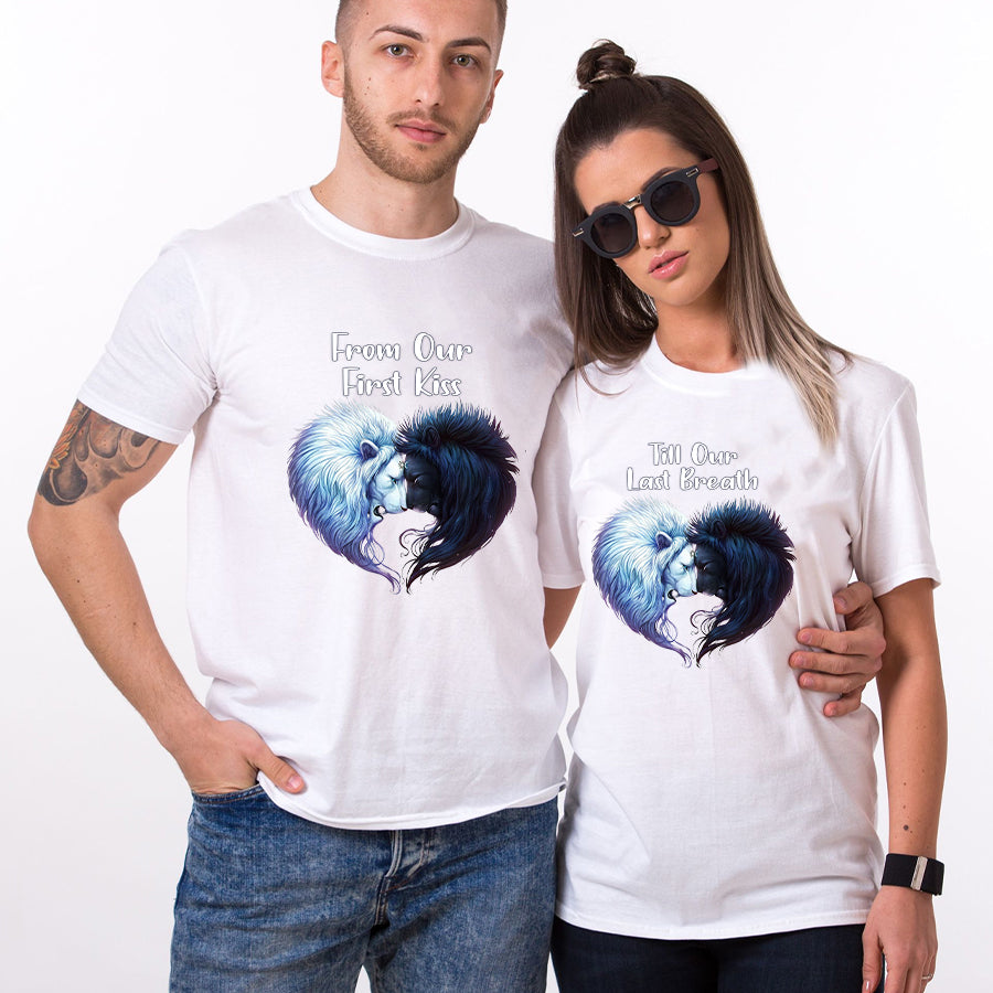 Valentine Lion Couple T Shirt