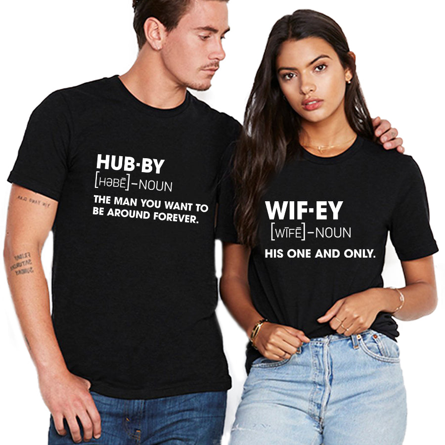 Valentine Hubby And Wifey T Shirt