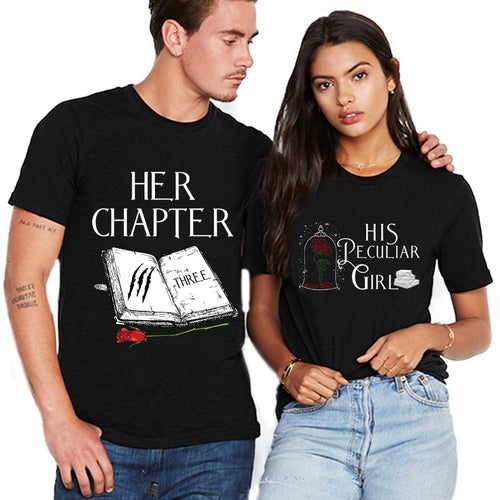 Valentine Her Chapter & His Paculiar Girl T Shirt