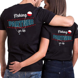 Valentine Fishing Partners Couple T Shirt
