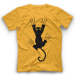 Black Cat Claws T Shirt Funny