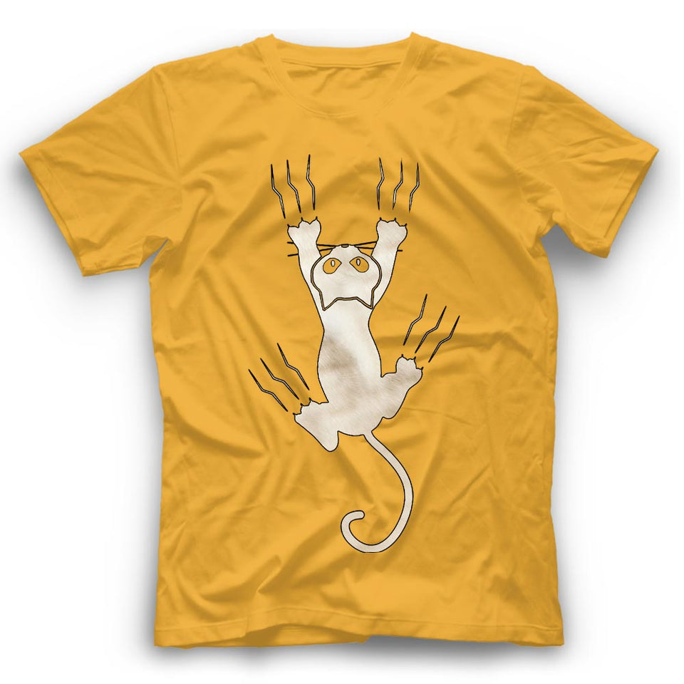 White Cat Claws T Shirt Funny