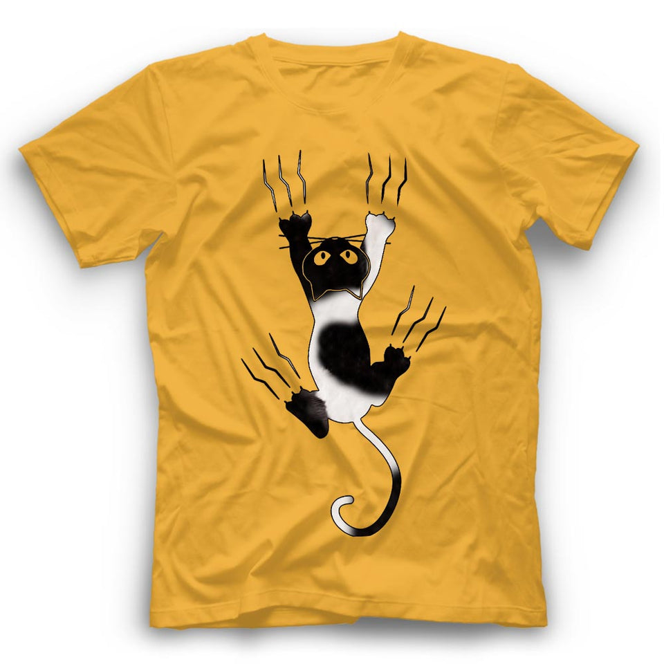 Tuxedo Cat Claws T Shirt Funny