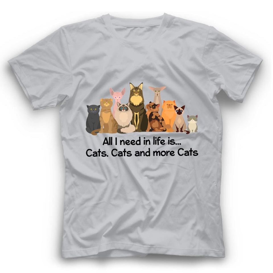 More Cats T Shirt Funny