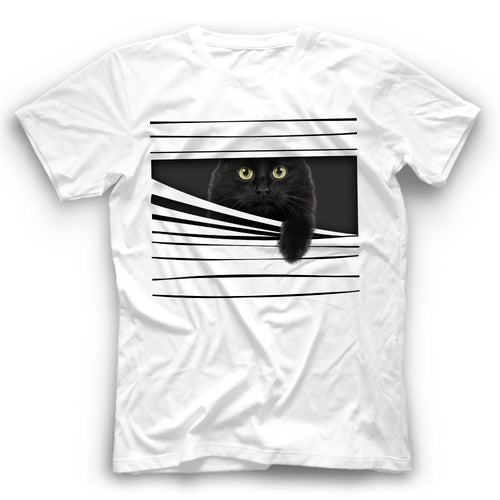 3D Black Cat T Shirt Funny
