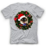 Christmas Siamese Cat T Shirt Funny