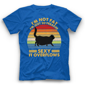 I'm Not Fat Cat T Shirt Funny