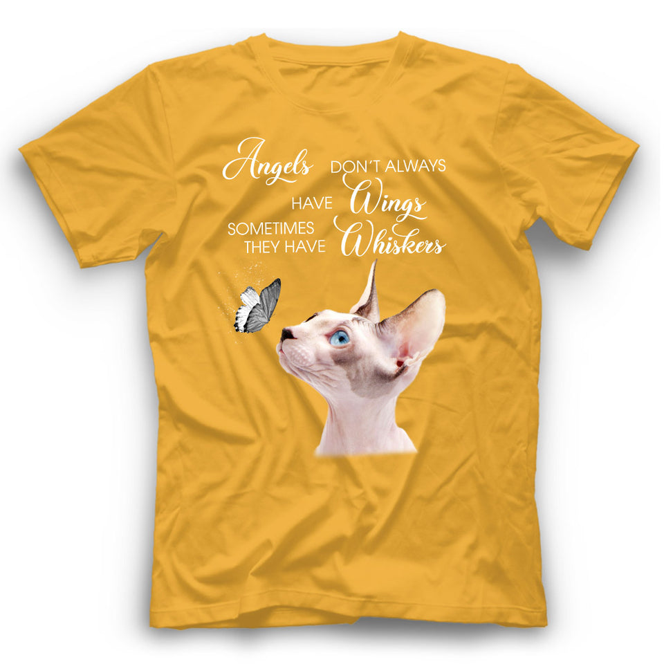 Angels Don't Always Have Wings Sphynx Cat T Shirt Funny