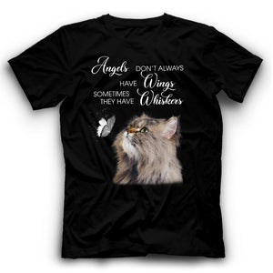 Angels Don't Always Have Wings Persian Cat T Shirt Funny
