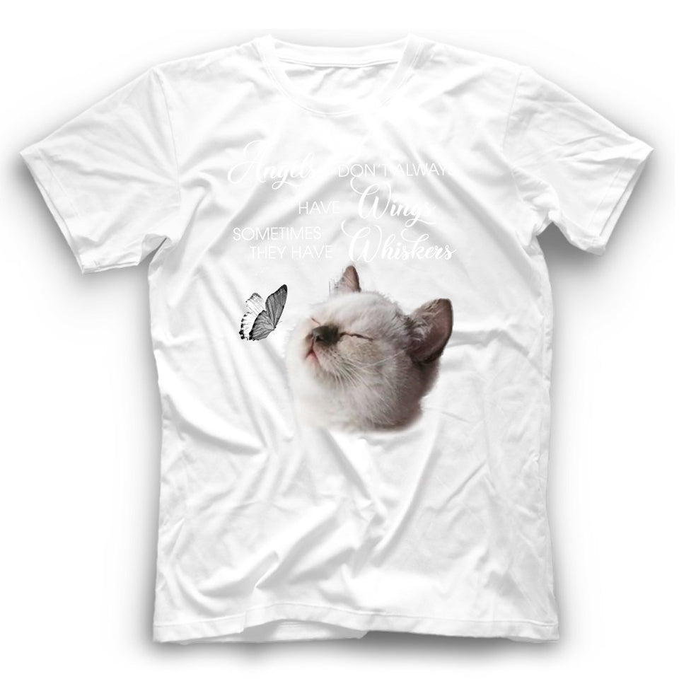 Angels Don't Always Have Wings Siamese Cat T Shirt Funny