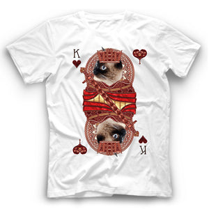 Siamese Cat Card T Shirt Funny