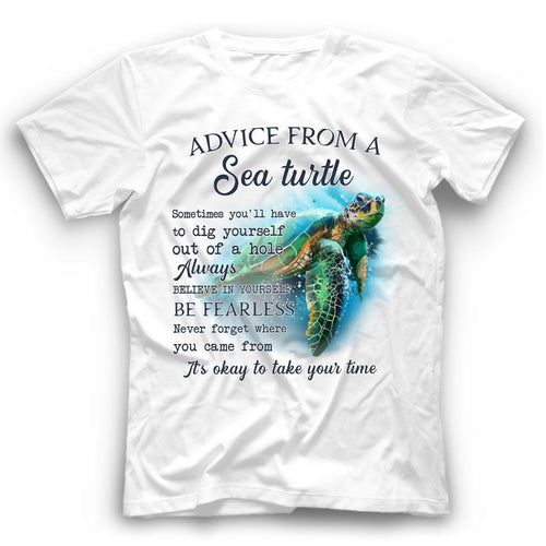 Advice From A Sea Turtle T Shirt Funny