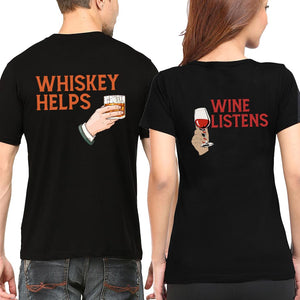 Valentine Whiskey Helps Wine Listen T Shirt