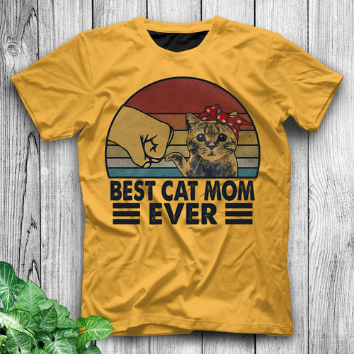 Best Cat Mom Ever Funny Cat Shirt Cat Shirts For Women