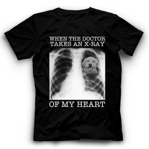 Golden Retriever When The Doctor Takes An X-ray Of My Heart T shirt