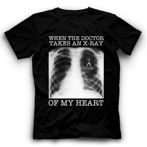 Border Collie When The Doctor Takes An X-ray Of My Heart T shirt