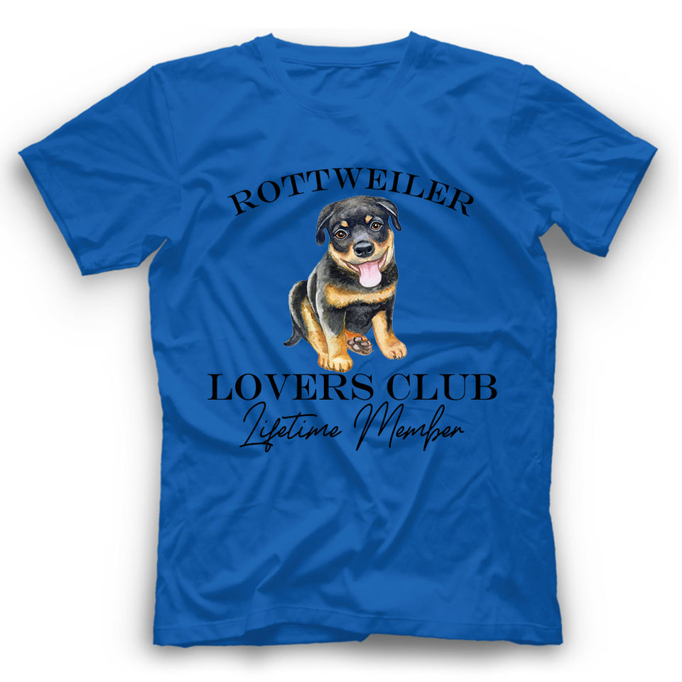 Rottweiler Lovers Club T shirt