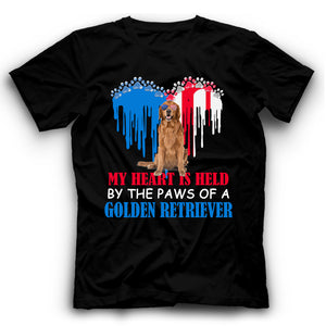 My Heart Is Held By The Paws Of A Golden Retriever T shirt