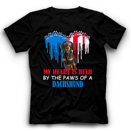 My Heart Is Held By The Paws Of A Dachshund T shirt