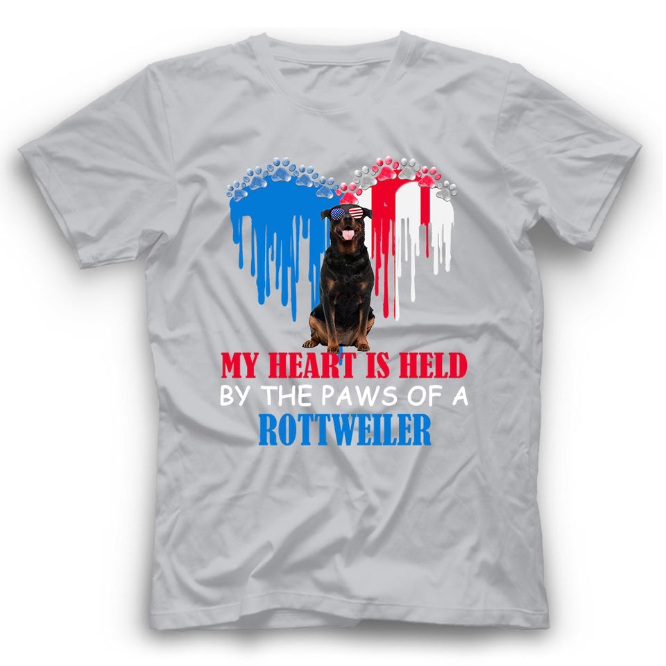 My Heart Is Held By The Paws Of A Rottweiler T shirt