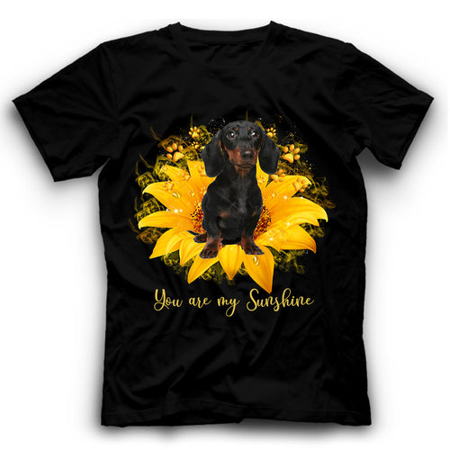 Dachshund Sunflower You Are My Sunshine T shirt