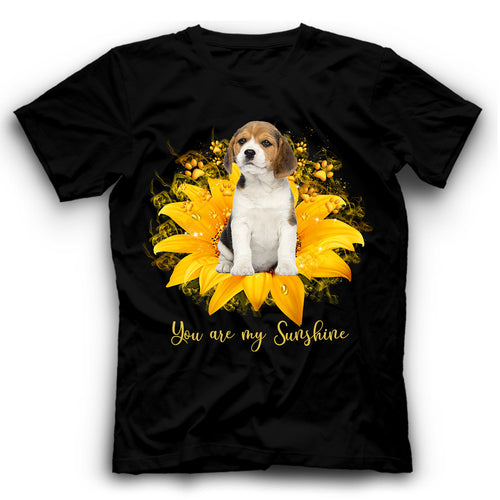 Beagle Sunflower You Are My Sunshine T shirt