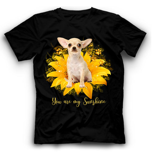 Chihuahua Sunflower You Are My Sunshine T shirt